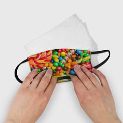 Маска для лица детская Сладкие конфетки цвета 3D — фото 2