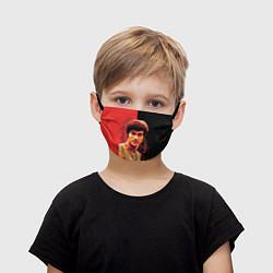 Маска для лица детская Брюс Ли цвета 3D-принт — фото 1