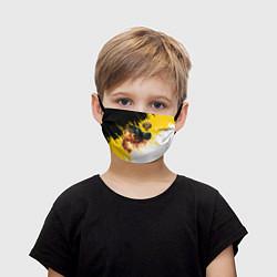 Маска для лица детская Имперский медведь цвета 3D — фото 1