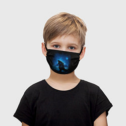 Маска для лица детская GODZILLA цвета 3D — фото 1