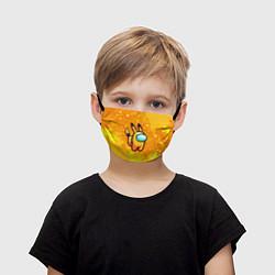 Маска для лица детская AMONG US - Pikachu цвета 3D — фото 1
