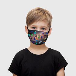 Маска для лица детская Among Us Чёрная дыра цвета 3D-принт — фото 1