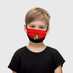 Маска для лица детская AMONG US - НЕ ВЕРЬ НИКОМУ цвета 3D-принт — фото 1