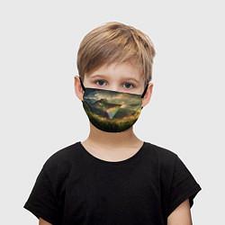 Маска для лица детская 30 seconds to mars цвета 3D-принт — фото 1