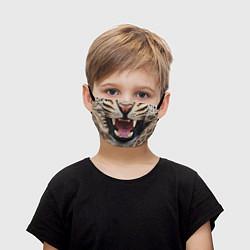 Маска для лица детская Взгляд леопарда цвета 3D-принт — фото 1