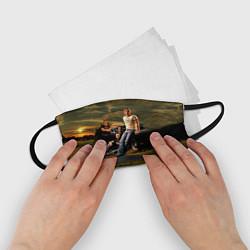 Маска для лица детская Nickelback Group цвета 3D-принт — фото 2