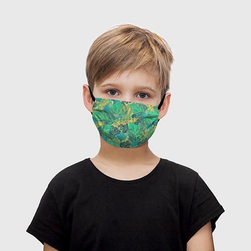 Детская маска для лица Узор из листьев / 3D – фото 1
