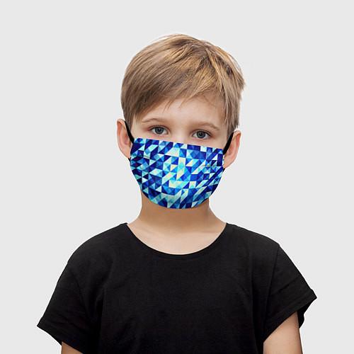 Детская маска для лица Синяя геометрия / 3D – фото 1