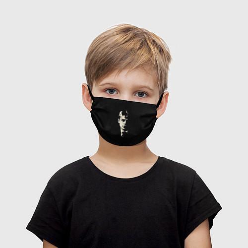 Детская маска для лица Есенин Ч/Б / 3D – фото 1
