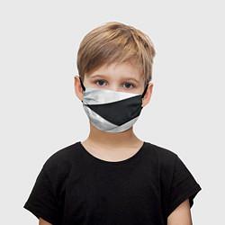 Маска для лица детская Чёрно-белый цвета 3D — фото 1