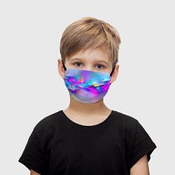 Маска для лица детская Абстракция цвета 3D — фото 1