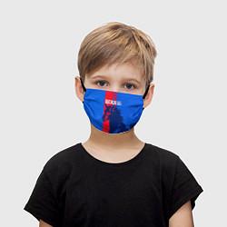 Маска для лица детская ЦСКА ФК цвета 3D-принт — фото 1