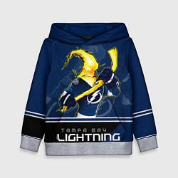 Толстовка-худи детская Bay Lightning цвета 3D-меланж — фото 1