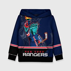 Толстовка-худи детская New York Rangers цвета 3D-черный — фото 1