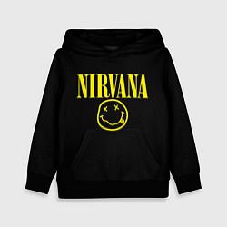 Толстовка-худи детская Nirvana Rock цвета 3D-черный — фото 1