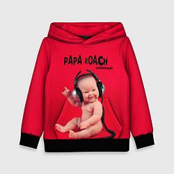 Толстовка-худи детская Paparoach: Music Kid цвета 3D-черный — фото 1