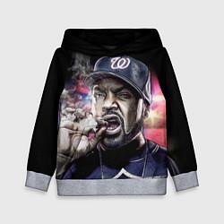 Толстовка-худи детская Ice Cube: Big boss цвета 3D-меланж — фото 1
