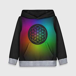 Толстовка-худи детская Coldplay Colour цвета 3D-меланж — фото 1