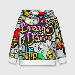 Толстовка-худи детская Break Show Dance цвета 3D-белый — фото 1