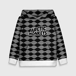 Толстовка-худи детская Arctic Monkeys: Black style цвета 3D-белый — фото 1