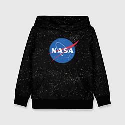 Толстовка-худи детская NASA: Endless Space цвета 3D-черный — фото 1