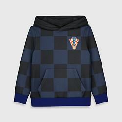 Толстовка-худи детская Сборная Хорватии: Гостевая ЧМ-2018 цвета 3D-синий — фото 1