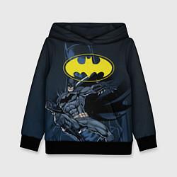 Толстовка-худи детская Batman цвета 3D-черный — фото 1