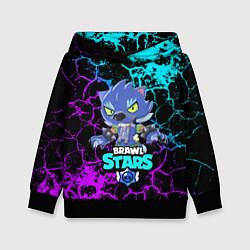 Толстовка-худи детская BRAWL STARS LEON ОБОРОТЕНЬ цвета 3D-черный — фото 1