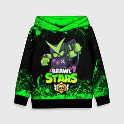 Толстовка-худи детская BRAWL STARS VIRUS 8-BIT цвета 3D-черный — фото 1