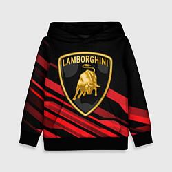 Толстовка-худи детская Lamborghini цвета 3D-черный — фото 1