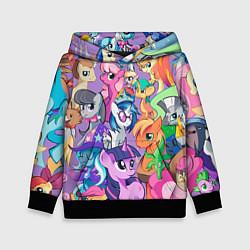 Толстовка-худи детская My Little Pony цвета 3D-черный — фото 1
