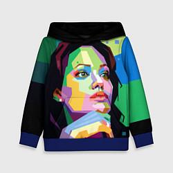 Толстовка-худи детская Angelina Jolie: Art цвета 3D-синий — фото 1