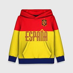 Толстовка-худи детская Сборная Испании: Евро 2016 цвета 3D-синий — фото 1