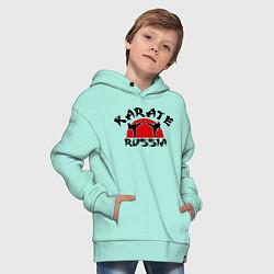 Толстовка оверсайз детская Karate Russia цвета мятный — фото 2