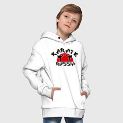 Толстовка оверсайз детская Karate Russia цвета белый — фото 2