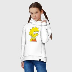 Толстовка оверсайз детская Lisa Simpson цвета белый — фото 2