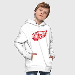 Толстовка оверсайз детская Detroit Red Wings цвета белый — фото 2