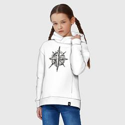 Толстовка оверсайз детская Pirats цвета белый — фото 2