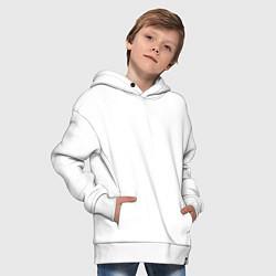 Толстовка оверсайз детская Lil Wayne цвета белый — фото 2