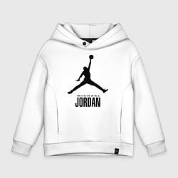 Толстовка оверсайз детская Jordan Style цвета белый — фото 1
