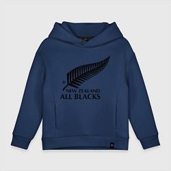 Толстовка оверсайз детская New Zeland: All blacks цвета тёмно-синий — фото 1