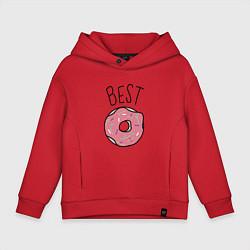 Толстовка оверсайз детская Best friends цвета красный — фото 1