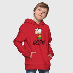 Толстовка оверсайз детская Moby цвета красный — фото 2