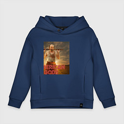 Толстовка оверсайз детская American Gods: Czernobog цвета тёмно-синий — фото 1