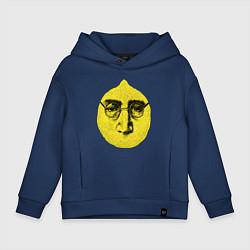 Толстовка оверсайз детская John Lemon цвета тёмно-синий — фото 1