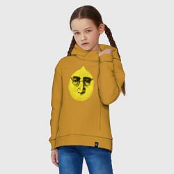 Толстовка оверсайз детская John Lemon цвета горчичный — фото 2