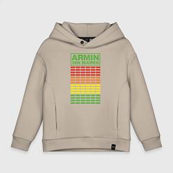 Толстовка оверсайз детская Armin van Buuren: EQ цвета миндальный — фото 1