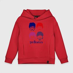 Детское худи оверсайз The Beatles faces