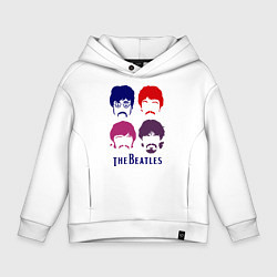 Толстовка оверсайз детская The Beatles faces цвета белый — фото 1