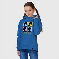 Толстовка оверсайз детская The Beatles: pop-art цвета синий — фото 2